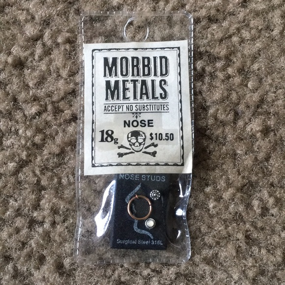 Morbid Metals Jewelry - Nose Rings Gold and Silver